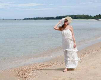 Pure.....White Cotton long dress