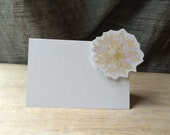 White Dahlia Place cards - for events weddings, parties and holiday entertaining