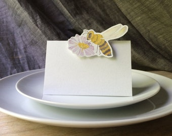 Honey bee Place cards, escort cards - Weddings, events, parties and holiday entertaining