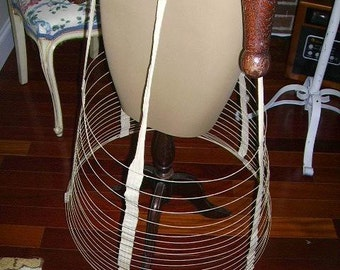 Rare Antique Victorian 1800's Cage Hoop Skirt Collapsible