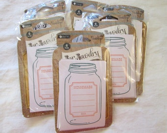 jar labels - 6 pkg JAR JEWELRY canning jar labels - vintologie, Hampton Art - 6 per package