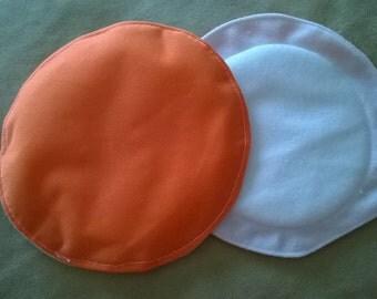 Ready to Ship - Cloth Nursing Pads - Orange