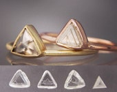 Custom Order for Shaughn - Triangle Diamond Gold Engagement Ring