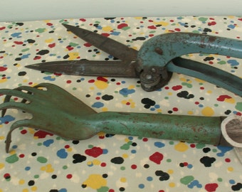 Vintage Clipper and Claw Garden Tools