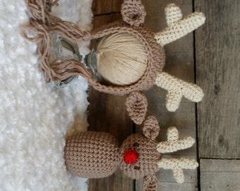 Reindeer Bonnet Prop Lovie Lovey amigurumi
