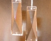 2 Clear Crystal Rectangle Prisms