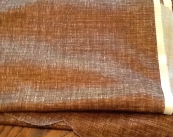 Vintage Brown Knit Fabric Print Material Retro