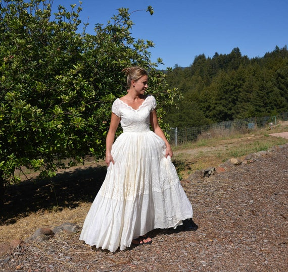 RESERVED For DIETER Vintage Wedding Dress Prairie Style Farm