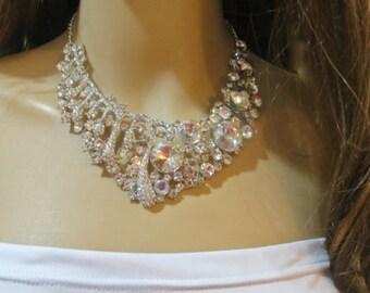 Bride To Be Necklace, Swarovski Rhinestone Bridal Necklace, Rhinestone Bridal Wedding Necklace, Rhinestone Bridal Wedding  Jewelry