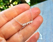 HAPPY Minimalist Sterling Silver Necklace