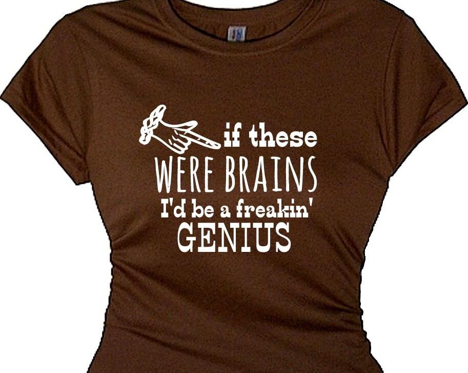 womens girls tacky party t shirt tee shirts boobs brains funny