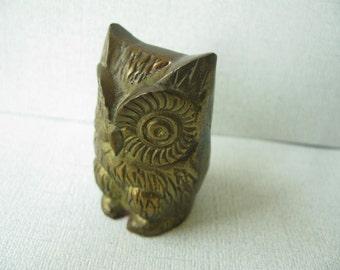 Vintage Brass Owl, figurine, decorative