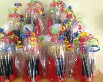 5 Add on Personalized Carnival theme Party Favor Gumball Machines-  need by Sept1st Communions, Sweet 16s ,Christenings , Birthdays