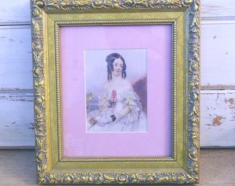 Victorian Lady Print - Matted and Framed