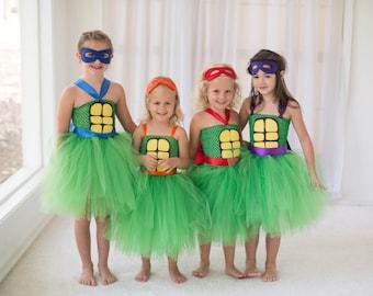 TMNT Ninja Turtle Inspired Halloween Costume or Birthday Dress Ninja Turtle Inspired Tutu Dress, Birthday Parties, or Dress Up