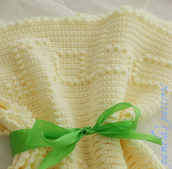 Crochet ABC Blanket for Baby, PDF Crochet Pattern, 36 by 36 in (91.44 by 91.44cm) approx