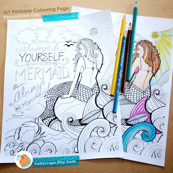 print out mermaid coloring pages - photo#38