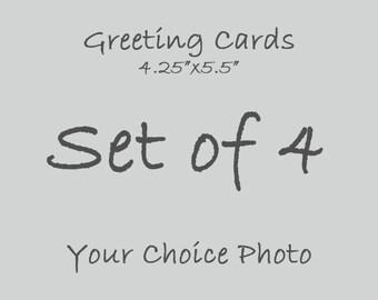 Greeting Cards Set of 4, Valentine's Day Cards for Boyfriend, Best Friend Birthday Card for Him, Graduation Card, Sympathy Card, 4.25x5.5