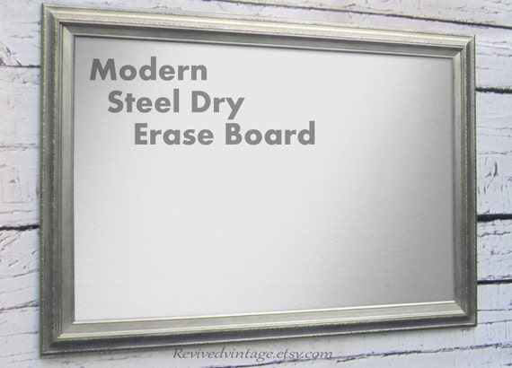 Metal Dry Erase Board : Large steel dry erase board magnetic bulletin by