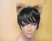 Cute Real Fur Kitty Ears Headband