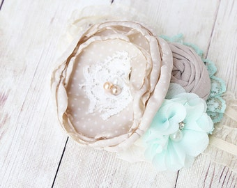 Helen - vintage inspired chiffon and lace headband  M2M Well Dressed Helen dress