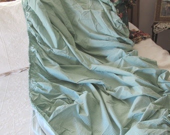 Twin Fitted Sheet by Ralph Lauren, Green Gingham