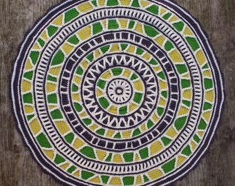 Mandala Circular Trim, crochet pattern, PDF in English