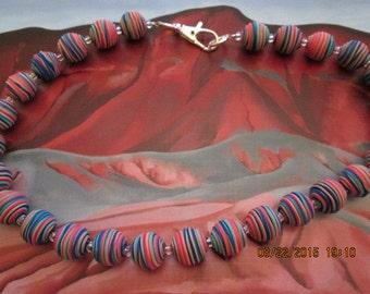 420 Fiesta Multi Round Beads Necklace