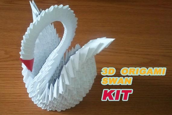 3d origami swan kit