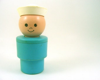 Vintage Fisher Price Sailor Man Oversized Large Little People Toy 1974 Retro Iconic Doll