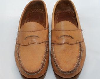 Unisex Leather Penny Loafers Men's 8/Women's 10