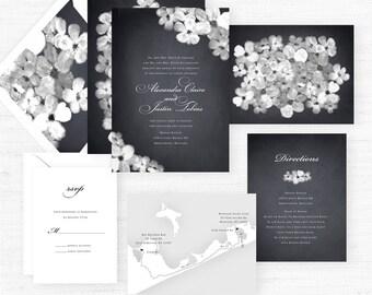 The Alexandria Collection | Sample Wedding Invitation | Hand-Painted Watercolor Wedding Invitations