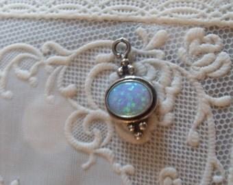 Navajo Silver 92.5 Sterling Silver- Elegant Opal pendant