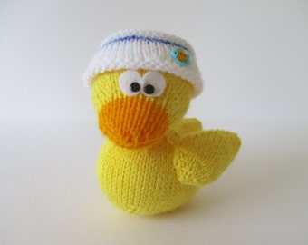 Huffin Puffin toy knitting pattern