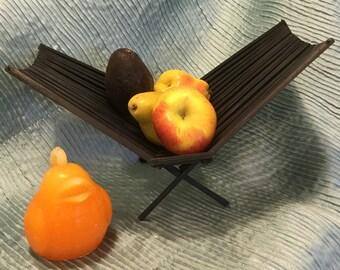 ASIAN INSPIRED BASKET Black Folding Basket Fruit Basket Vegetable Basket Modern Mid Century  Modern Logic