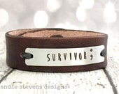 Semicolon Jewelry - Suicide Prevention Awareness - Prevention Jewelry - Leather Bracelet - Semicolon Bracelet - Hand Stamped Jewelry