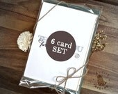 "6 card set. Your choice. Greeting card set. 5x7"" notecards."