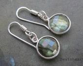 Mystic. Sterling silver Labradorite handmade earrings.