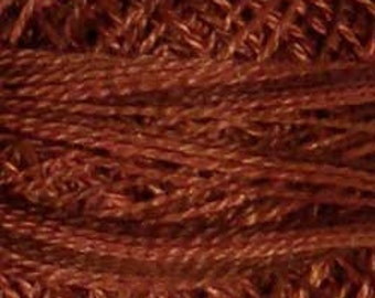 Size 12, O513, Valdani Perle Cotton, Coffee Roast