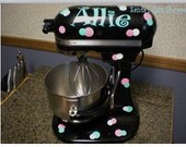 Kitchenaid mixer decals - Polka Dot Mixer - Personalized Mixer - Kitchenaid Vinyl Decals - Kitchen Art -