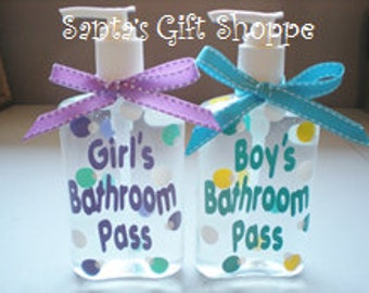 Teacher Appreciation Day - ONE Personalized Hand Sanitizer - Teacher Gift - Hall Pass - ONE  8 oz. - Children - Teens - Christmas Gifts
