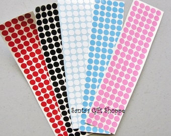 150 1/4 Inch Polka Dots - Vinyl Decals - 150  Dots - Sticker Sheet -  Polka Dots - Stemware Gasses - Bridal Party