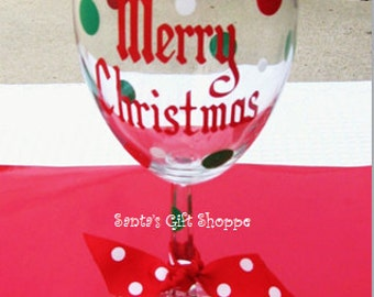 5 Merry Christmas Party Vinyl Decals - (Set of 5) - Christmas Vinyl - GLASSES NOT INCLUDED - Vinyl Decal Stickers