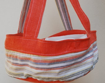 Cake bag with stripes, round cake carrier, tart tote