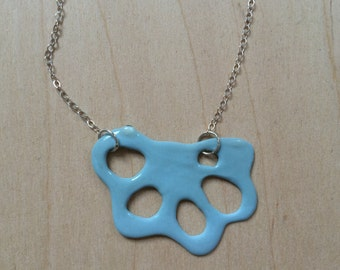 Blue Porcelain Necklace
