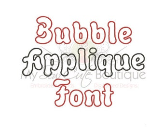 Applique Font Embroidery Design - 8 Sizes - BX Embroidery Font Included - Instant Download