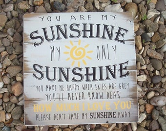 shabby chic Your Are My Sunshine Wooden Sign Plaque Nursery Playroom