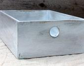 Storage Bin in Distressed White