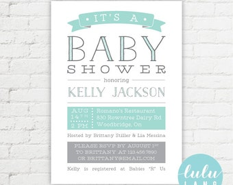 Modern Simple Printable Baby Shower Invitation