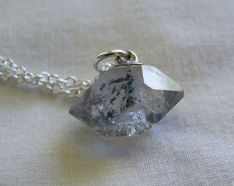 Herkimer Diamond Gemstone Crystal Pendant Necklace